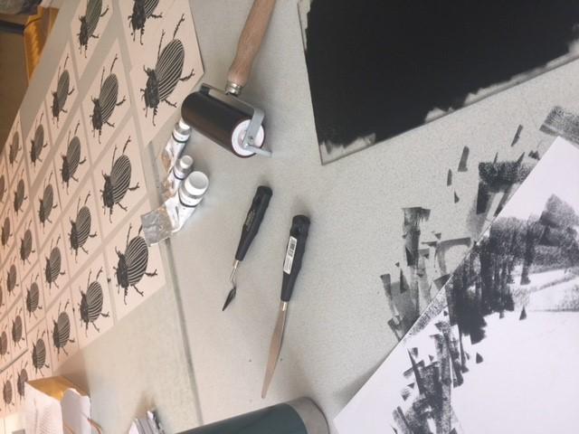 Nieuwe cursus: Linoleum- en houtdruk